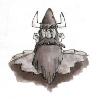 Inktober 2015 - The Viking Lord by HyraxAttax