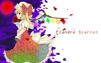 Flandre Scarlet - Wallpaper by ZeroLifePoints