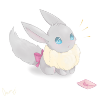 Shiny Eevee by MsKtty89
