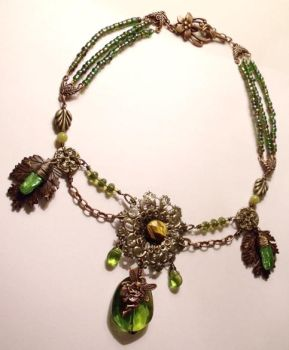 The Forest Fairy necklace by TheBrassGlass