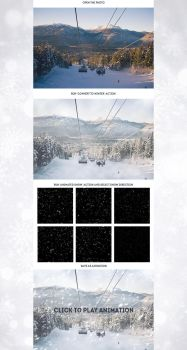 Animated Snow Photoshop Action by GraphicAssets