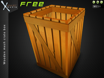 Wooden Crate Box (SL item freebie) by EntecMedia