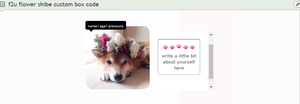 F2u Flower Shibe Custom Box Code by snailbits