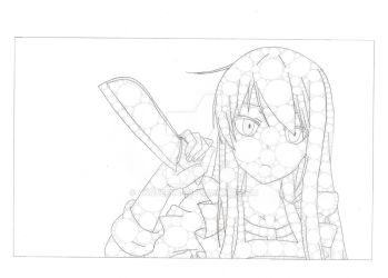 Mashiro Holding A Knife by Anqueetas