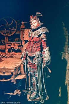 Myrrah cosplay, Sloss Furnace by cimmerianwillow
