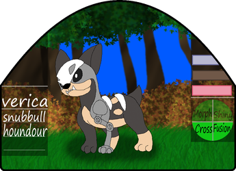 Verica|female|snubbull/houndour by millemusen