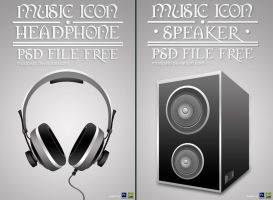 Headphone and Speaker PSD File by mostpato