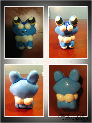 Froakie Chibi PokeDoll Sculpture by Eternalskyy