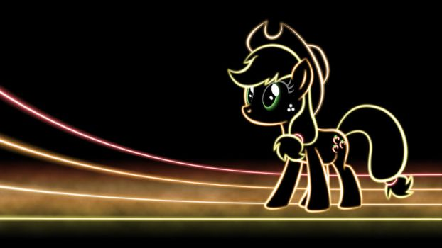 Applejack Glow Wallpaper by SmockHobbes