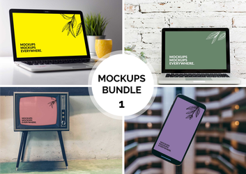 FREE Mockup Bundle 1 by MunaNazzal