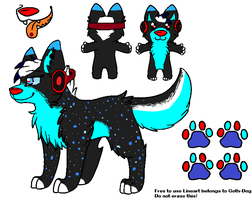 Sapphire ref sheet by Box-of-YEHET