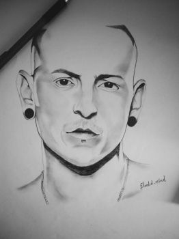 Pencil drawing of Chester Bennington by ashilraj