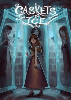 Book cover illustration: Caskets of Ice by l3onnie