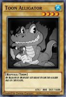 1930's Toon Alligator Card by PlayboyVampire