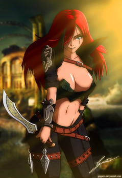 Katarina - League of legends by Gugarts