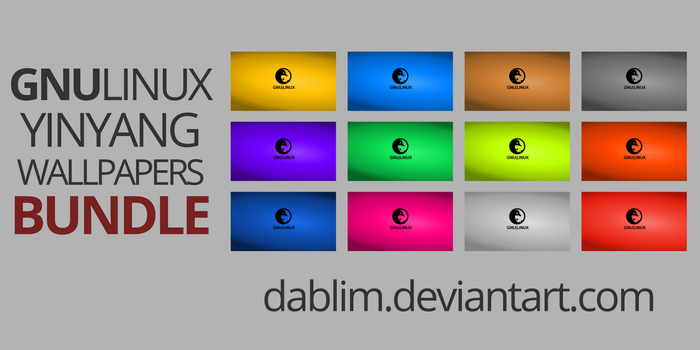 GNULinux YinYang Wallpapers Bundle by Dablim