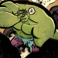 Hulk Has A Headache by Zatransis