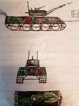 my first tank drawing  by jamezguns