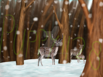 Done - deers in the forest by puppy1128