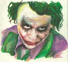 The Joker in Oil Pastel by Holllywood