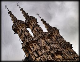 Detail townhall Leuven Belgium by pagan-live-style