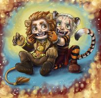 Leo and The Tiger by Demona-Silverwing