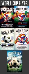 Football World Cup Flyer Bundle by Hotpindesigns