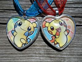 For Sale: Plusle and Minun Charms