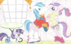 Request - Filly Twilight's double pantsing by wjmmovieman