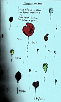 ballons in the rain - by MightyMaik