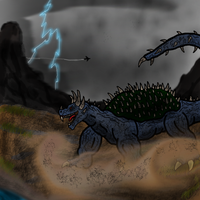 Destroy All Monsters: Anguirus by The-Great-MM