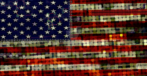 USA Flag Circuit Board by Jemmeh