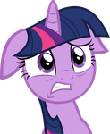 Twilight Sparkle - Worried Face by abydos91