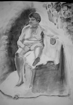life painting 1 hour..charcoal soaked in linseed o by popthemelon8