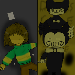 Kris and Bendy :3 by IttyBitty1996