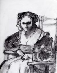 Rembrandt: Woman in Armchair by SpaceFood