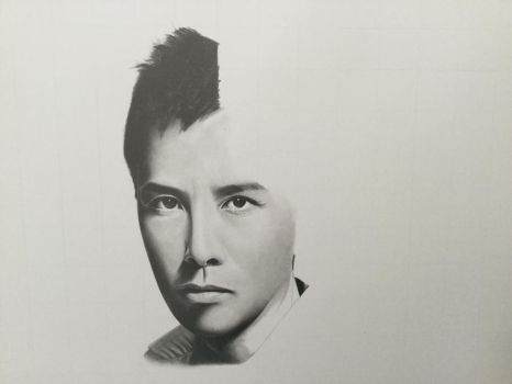 Donnie Yen Portrait WIP by yipzhang5201314