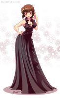 .: Commission:. Party Gown Nabiki by Mako-Fufu
