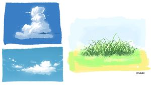 Cloud and Grass by mclelun