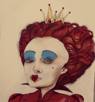 Red Queen Drawing by knightdevil18