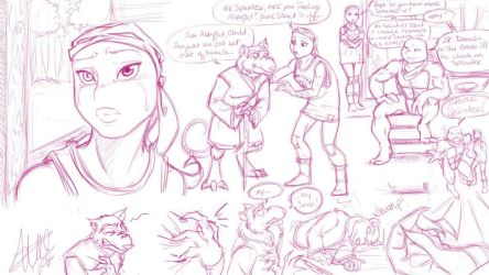 Splinters Passing Sketch Dump 1 by bugsytrex
