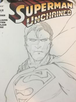 WIP Superman sketchcover by JasonScholte