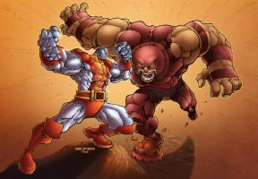 Colossus vs Juggernaut by Pask