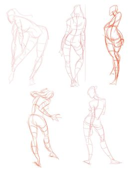 Analytical Figure Drawing - week 1 by E-V-IL