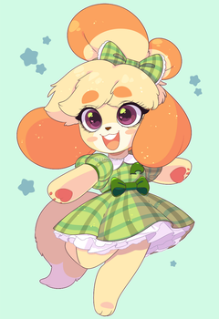 Animal Crossing: Happy B-day Isabelle! (Animated) by QueenAshi