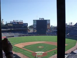 Turner Field from radio booth by jynx67