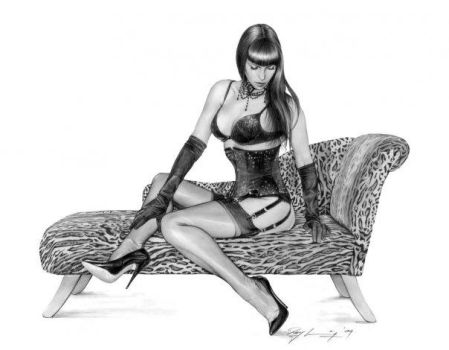 'Chaise Longue' pecil by Ray by RayLeaning