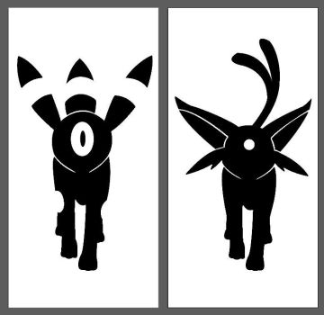 Umbreon and Espreon by SoftSucculent