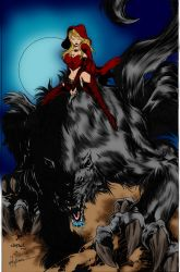 girl and wolf by kevarin
