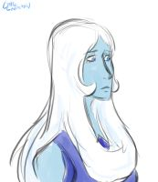 Blue Diamond doodle by LittleSnaketail